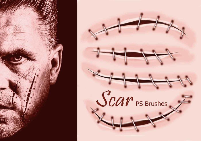 20 Scar PS Brushes