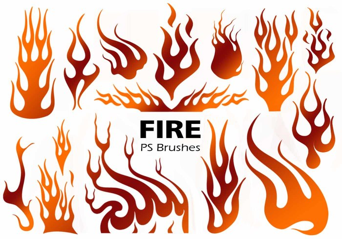 Fire Silhouette PS Brushes