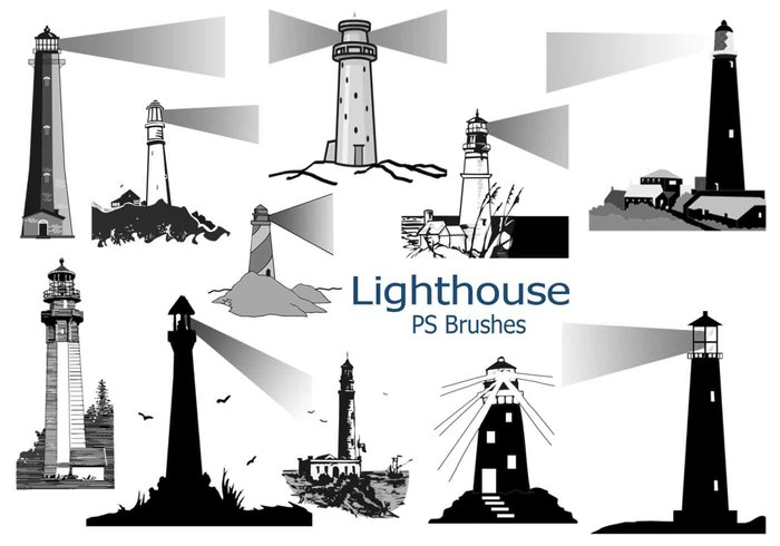 20 Lighthouse PS Brushes abr.Vol.1