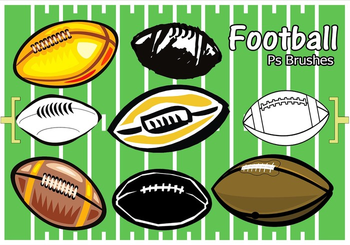 20 Football Ps Brushes abr. vol 9