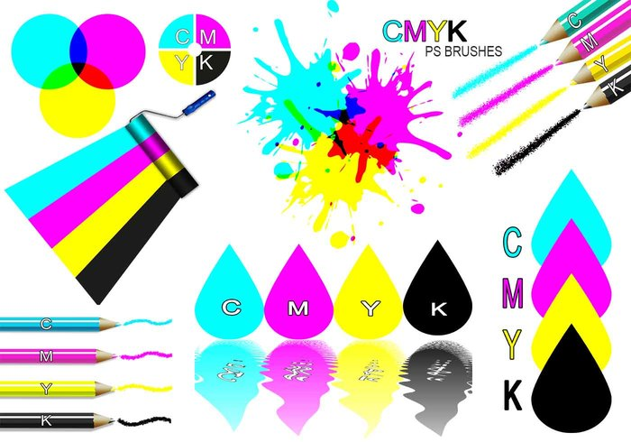 20 Cmyk PS Bürsten abr.Vol.1