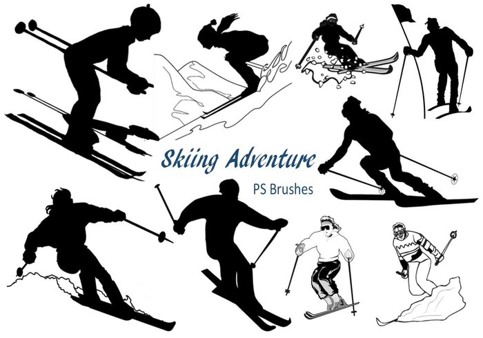 20 Skiing Adventure PS Brushes abr. Vol.3