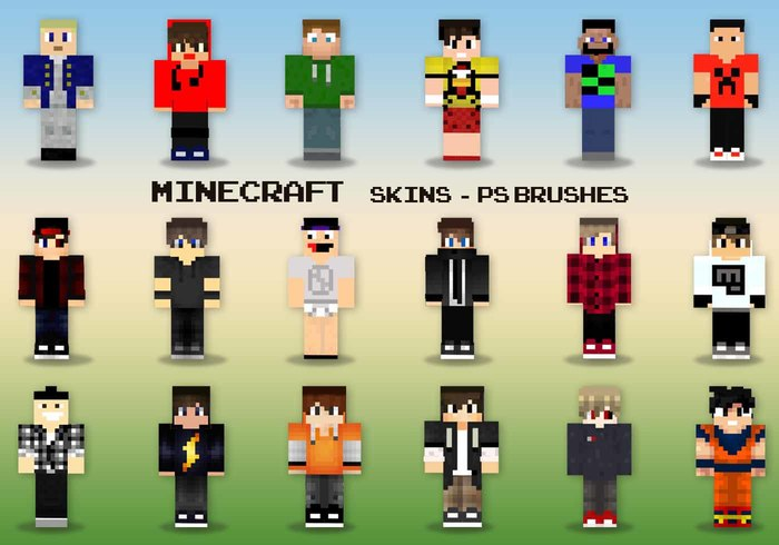 Minecraft Skins PS Brushes Free Photoshop Brushes At Brusheezy - Skins para minecraft 1 8 premium