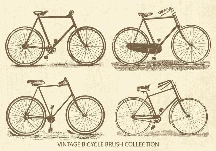 Collection de brosse Vintage Bicycles