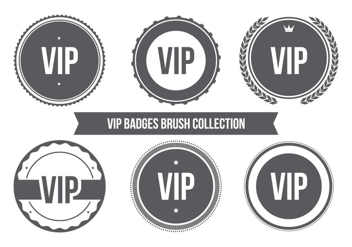 Vip badge brush collectie