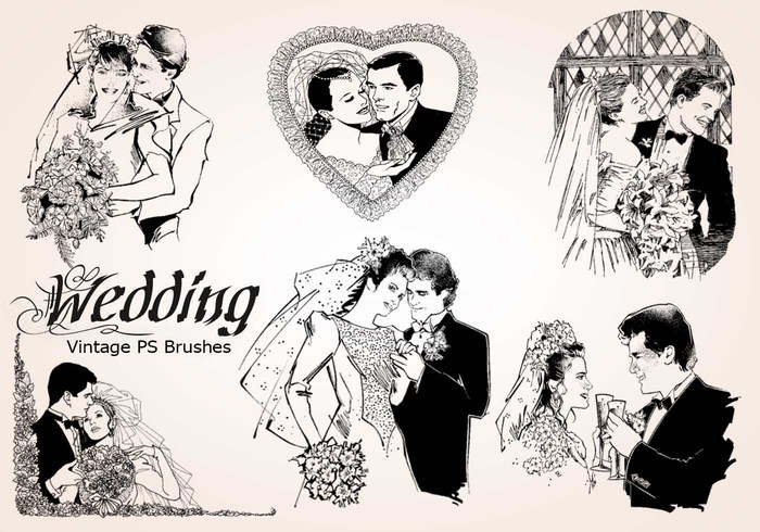 20 Wedding Vintage PS Brushes abr. vol.11