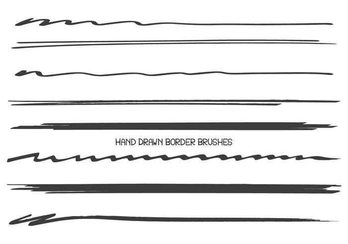 Hand Drawn Border/Divider Brush Collection