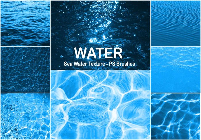 20 Textura de agua de mar PS Brushes abr Vol.5