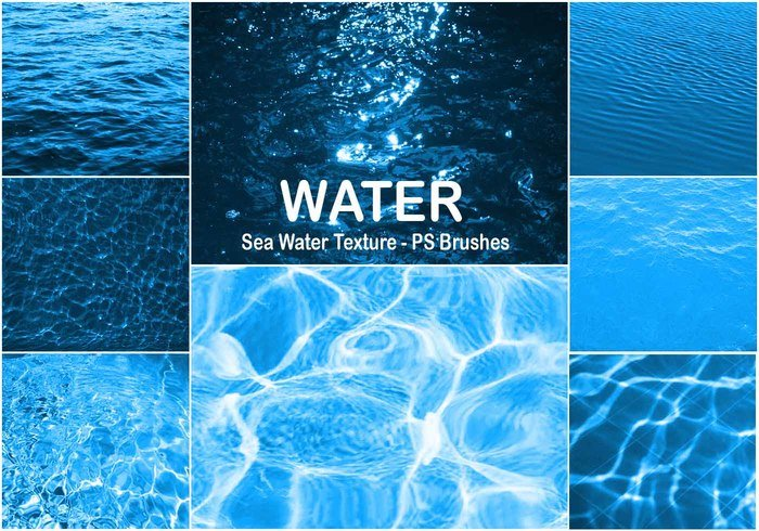 20 Sea Water Texture PS Brushes abr Vol.5