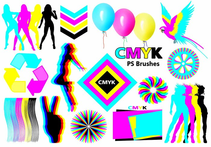 20 Cmyk PS Bürsten abr.Vol.6