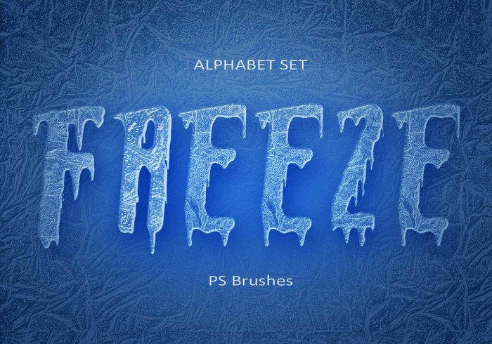 20 Freeze Alphabet Set PS Pinceles