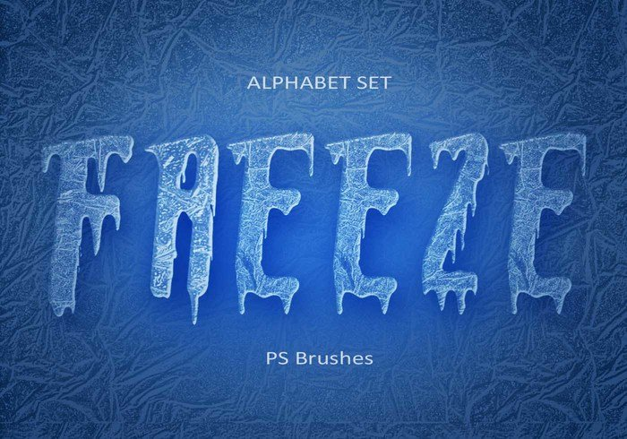 20 Freeze Alphabet Set PS Pinceaux