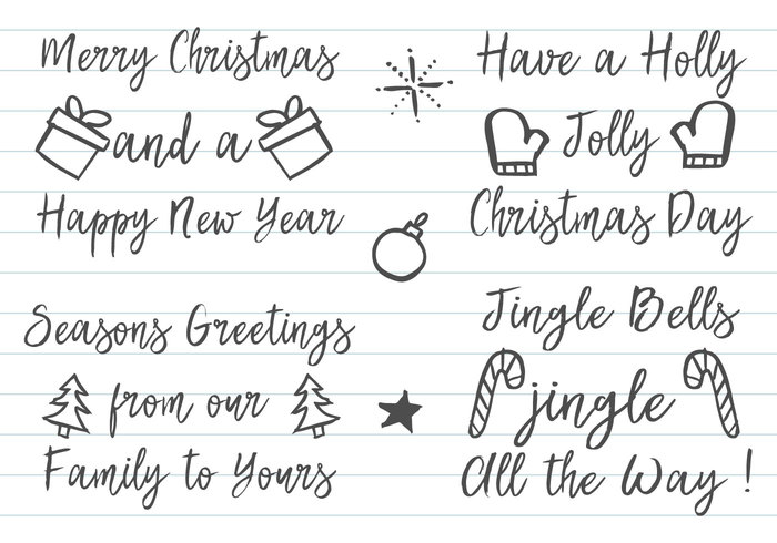Sketchy Christmas Label Brushes