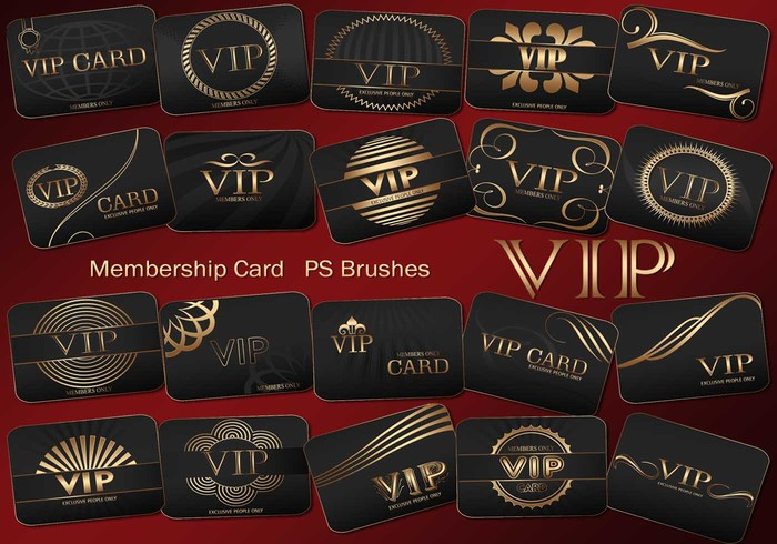 20 Vip Card PS Bürsten abr. Vol.3