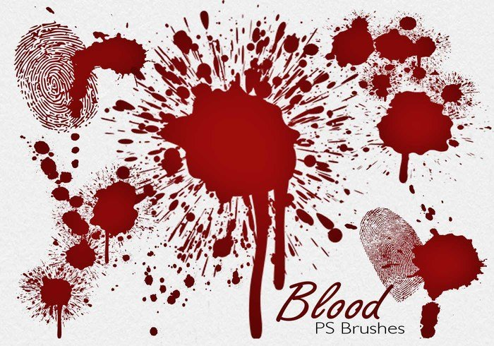 20 Blood Splatter PS Pinceles abr vol.7