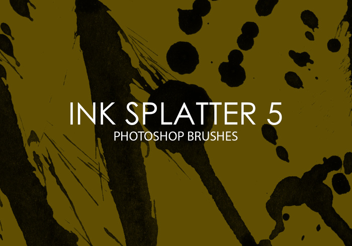 Free Ink Splatter Photoshop Brushes 5