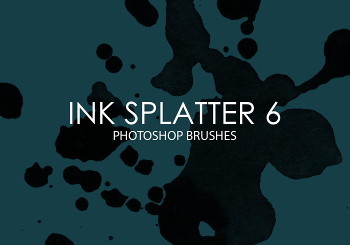 Gratis Ink Splatter Photoshop Borstar 6