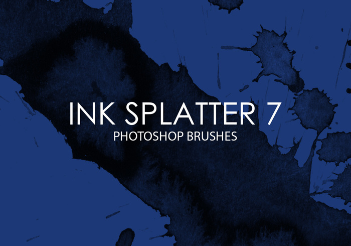 Free Ink Splatter Photoshop Brushes 7