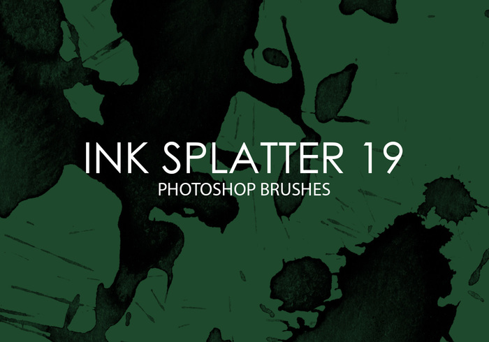 Escovas gratuitas do photoshop splatter de tinta 19