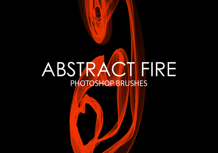 Free Abstract Fire Photoshop Brushes