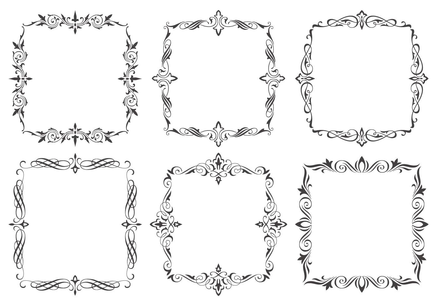 Dekorative Rahmen Pinsel Sammlung Kostenlose Photoshop