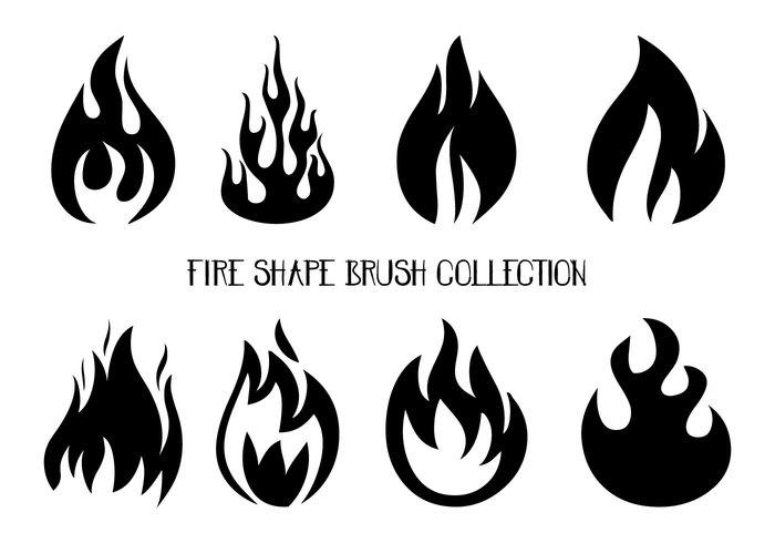 Fire Shapes Brush Collection