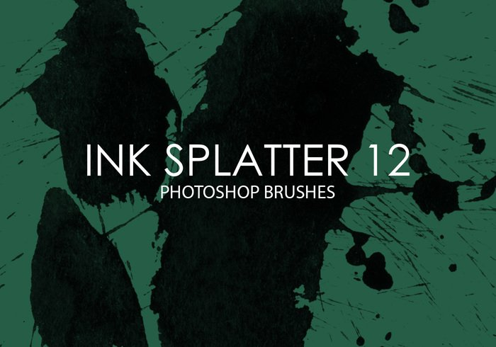 Free Ink Splatter Photoshop Brushes 12