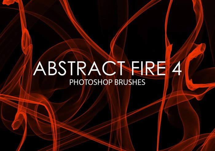 Free Abstract Fire Pinceles de Photoshop 4