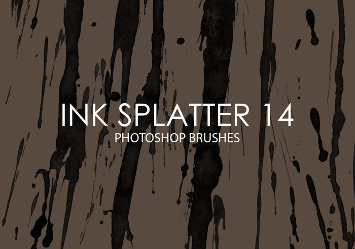 Free Ink Splatter Photoshop Bürsten 14