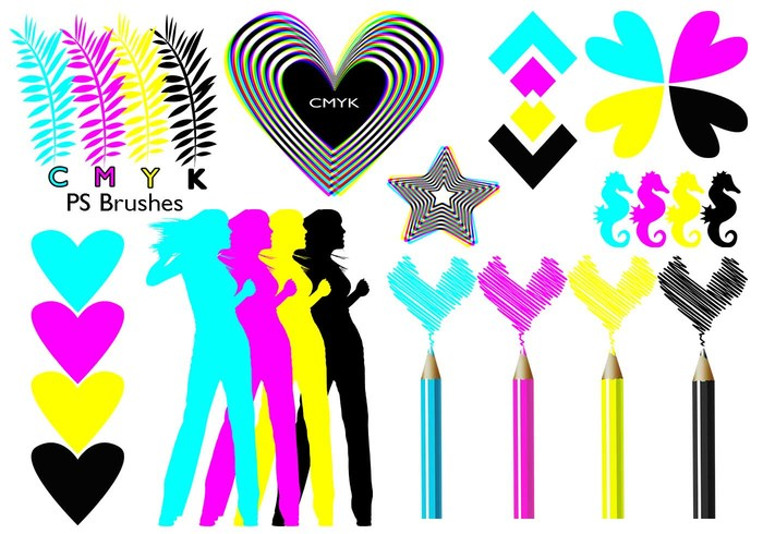 20 Cmyk PS Brushes abr.Vol.9