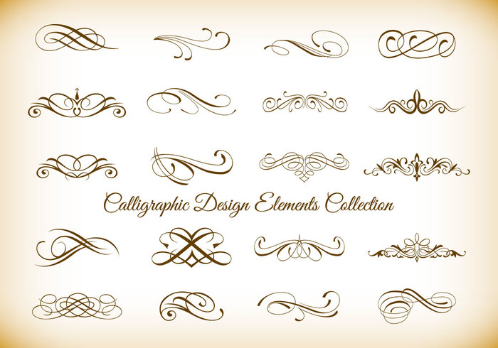 Calligraphic Design Element Brushes