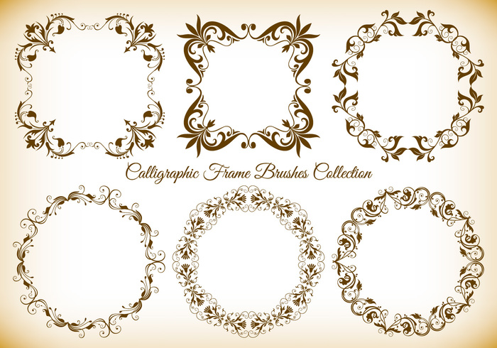 Calligraphic Frame Brushes