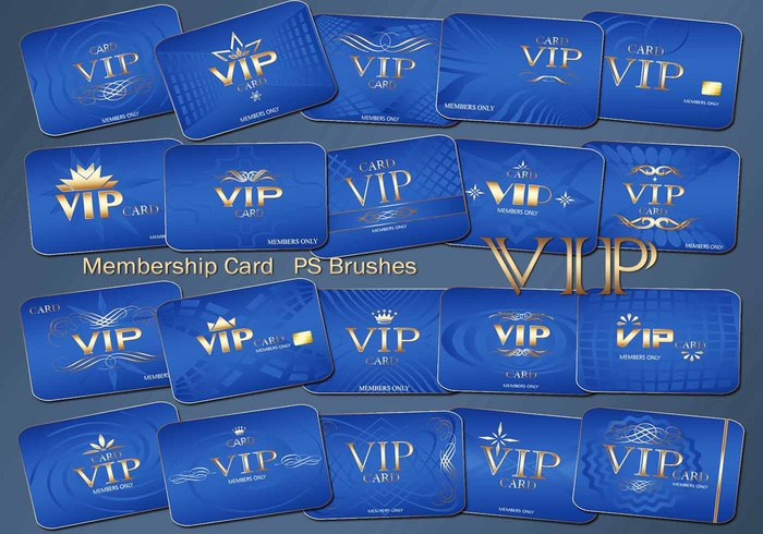 20 Vip Card PS Brushes abr. Vol.4