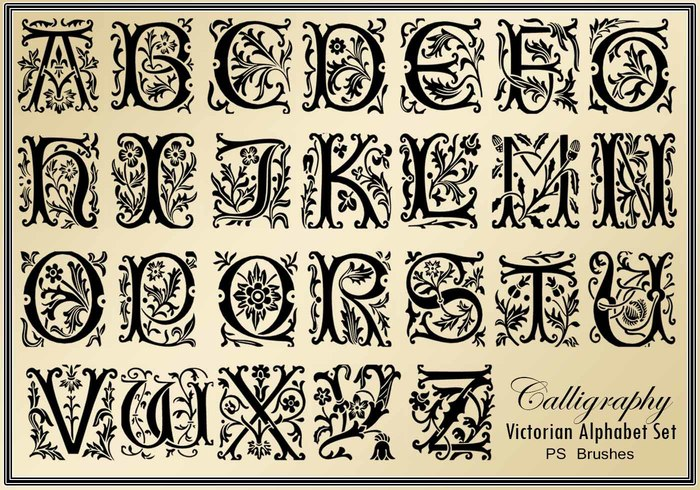 26 Victorian Calligraphy PS Brushes abr. Vol.3