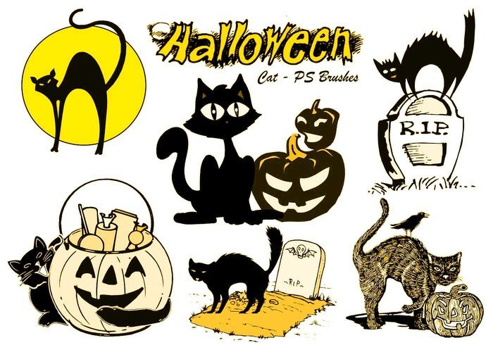 20 Halloween Cat PS borstar abr.Vol.8