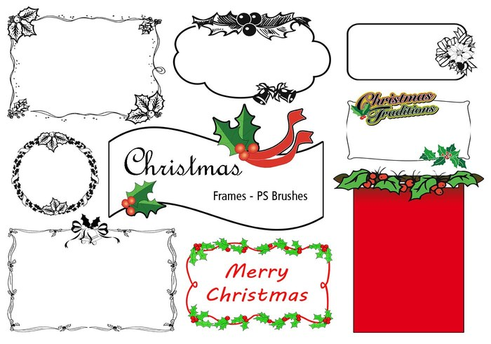 20 Christmas Frames PS Brushes abr. Vol.9