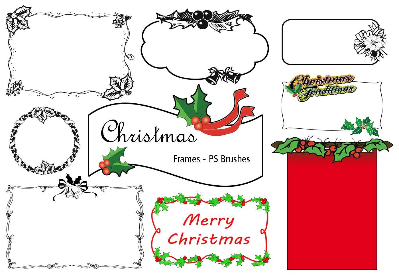 20 Weihnachtsrahmen PS Bürsten abr. Vol. 9 - Kostenlose Photoshop ...