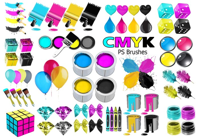 20 Cmyk PS Brushes abr.Vol.13
