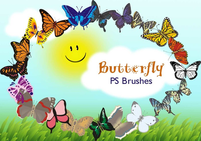 20 Butterfly PS Brushes abr.Vol.11