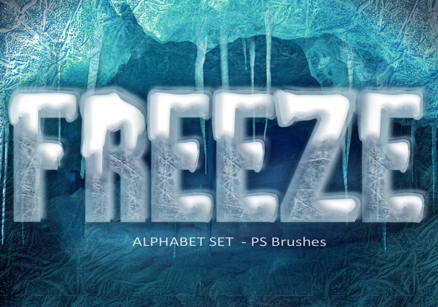 Happy Color 20 Freeze Alphabet Set Ps Brushes Abr Vol 8 Free