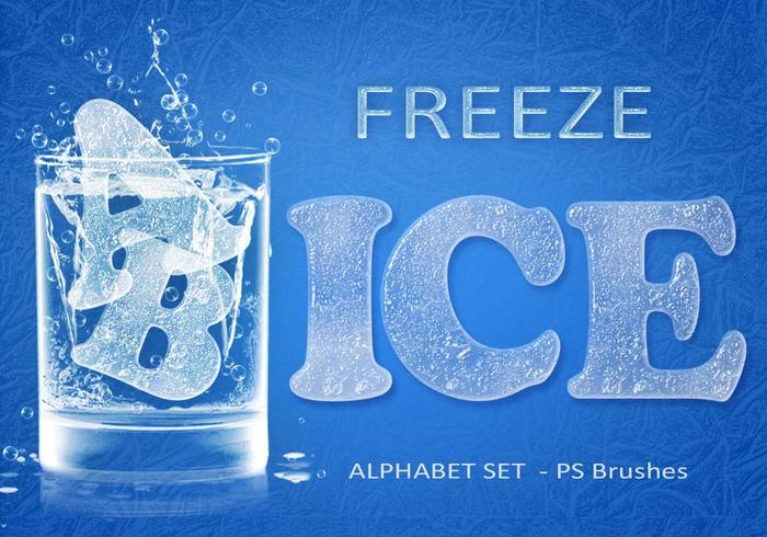 26 Freeze Ice Letters PS Brushes abr. Vol.7