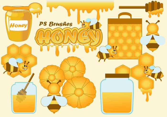 20 Honey PS Brushes abr. vol.7
