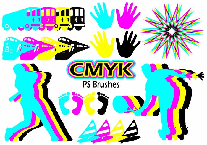 20 Cmyk PS Brushes abr.Vol.10