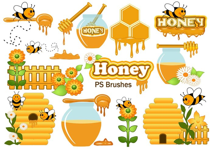 20 Cute Honey PS Brushes abr. Vol.8