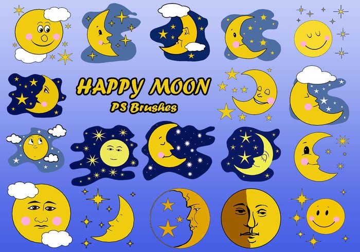 20 happy moon ps brushes abr vol.7