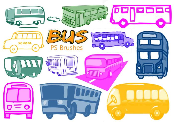 20 cute bus ps pinceles vol.5