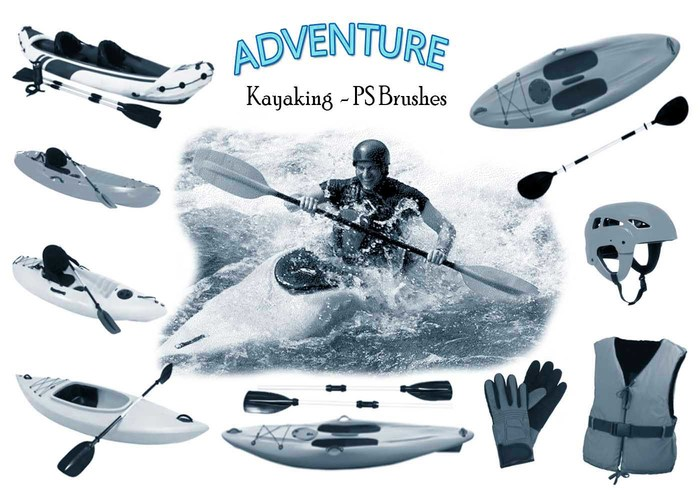 20 Kayaking Adventure PS Brushes abr. Vol.7