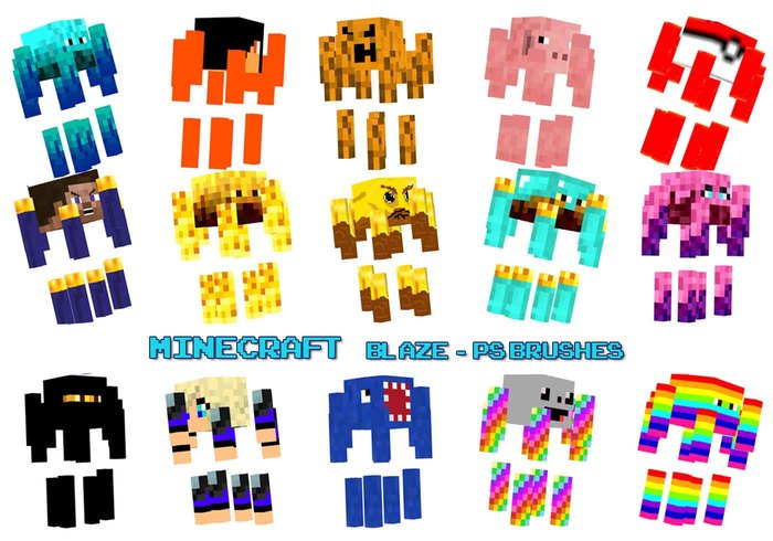 Pinceles de Photoshop de Minecraft