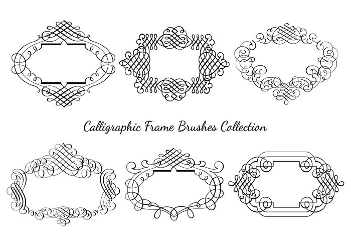 Collection Calligraphic Frame Brushes
