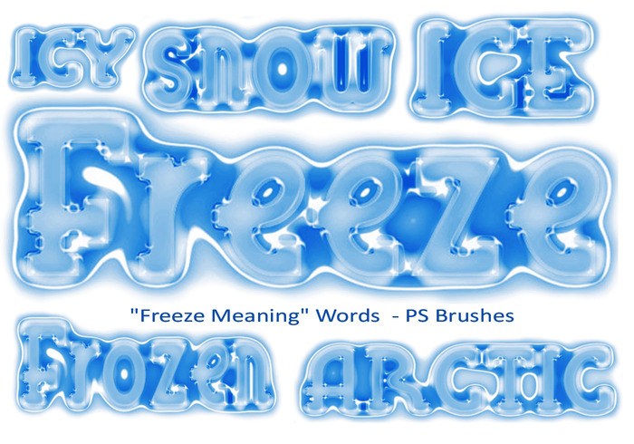 "20 ""Freeze Meaning"" Words PS Brushes abr. Vol.9"